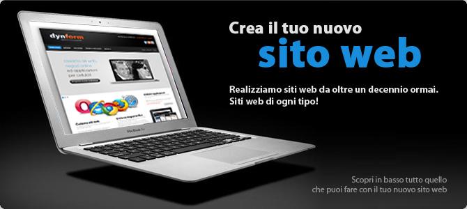 Dynform agenzia di comunicazione web siti web for Crea il tuo sito web personale